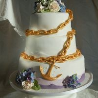 Maritim Wedding Cake The Groom is Captain on a ship and so the Wedding Cake?s Theme is maritime.