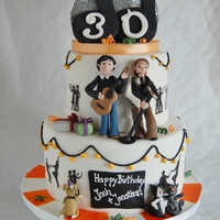 Birthday Cake For Twins Which Love Making Music Celebrate Josh & Jonathan