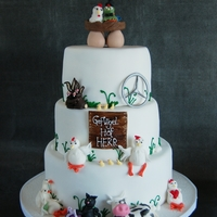 Wedding Cake For A Farmer I Love doing character Cakes :)