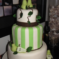 Pear Wedding Cake