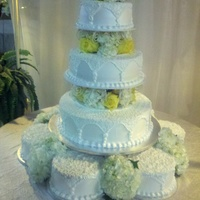 Hydrangea Wedding All whipped Icing and fresh flowers. TFL