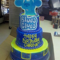 Blues Clues Whipped Icing and edible images.