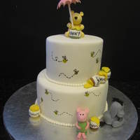 Classic Pooh Baby Shower Cake