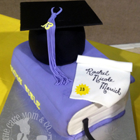 Class Of 2013 Graduation Cakes Custom graduation cakes (two just alike) for a shared graduation party. White velvet cake with buttercream and fondant. Cap is cake and...