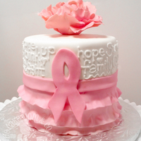 Pink Ribbon Breast Cancer Survivor Cake This pink ribbon cake was in celebration of a breast cancer survivor's triumph over the disease. The torted three-layer chocolate...