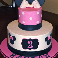 Minnie Mouse Themed Birthday Cake Minnie Mouse themed birthday cake.