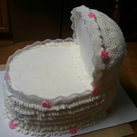 Baby Basinette Baby Shower Cake $75.00