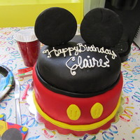 Claire's Cake All fondant. Ears are also fondant. Made this for my daughter's first birthday.