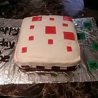 Minecraft Cake I Made For My Nephew Minecraft cake I made for my nephew.