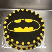 Batman Cake Chocolate And White Cake With Fondant Covering Batman cake chocolate and white cake with fondant covering.