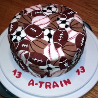 Sports Birthday Made with fondant. Not hard but very time consuming.