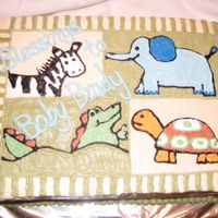 Zanzibar This cake was made to match the Zanzibar bedding line. Piped in buttercream.