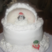 Igloe Igloe cake with candy decoration. Sugar ice crystal. All buttercream