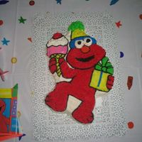 Elmo Cake This was for my son's 2nd birthday party.