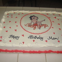 Betty Boop I mad this cake for a friend mom who into betty boop the betty boom is edible image