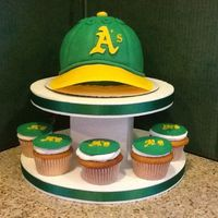 Oakland A's Cap A's baseball cap and cupcakes