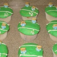 Superbowl 2009 Cupcakes   I made these for our Superbowl party. Sorry, I know the bears aren't wearing the correct jersey colors. :)