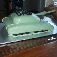 Tank Birthday Cake My dad was in the military for 18 years so i figured this would be something to try.