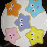 Dora's Star Cookies For Bailey 2 year olds can't make up their minds so we made all 3, cake, cupcakes and cookies. She loved them all!