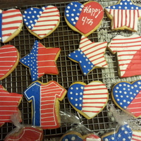 Sugar Cookies With Fondant And Ri Deco For 4Th Of July sugar cookies with fondant and ri deco for 4th of july