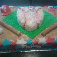 Bridal Shower Phillies Cake