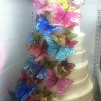 Butterfly Wedding Cake My first wedding cake