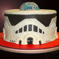 R2D2 Storm Trooper Cake!  A very last-minute cake for a friend's little boy. They've been living on the East Coast for for the last year, and ended up...