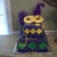 Mardi Gra Cake I enjoyed making this cake, but I really need some photography lessons because this photo does my piece of art no justice! :(