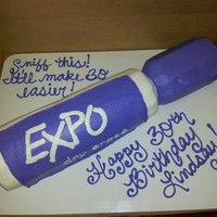 My Best Friends Birthday Cake We Have A Thing For Expo Markers Lol   *My best friend's birthday cake. We have a thing for Expo markers, lol.