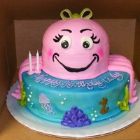 Pink Octopus 2Nd Birthday   I made this for my daughter's 2nd birthday. This cake is my absolute favorite cake that I've done.