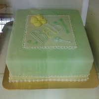 """baby"" Shower   This is a dummy cake I did for the bakery."