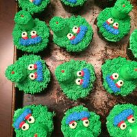 Phillie Phanatic Cupcakes Phillie Phanatic cupcakes