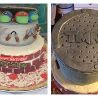 Teenage Mutant Ninja Turtles! TMNT cake, all edible fondant decorations