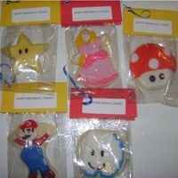 Super Mario Bros. Cookies NFSC with Antonia's Royal Icing and MMF faces.