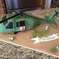 Blackhawk Medevac Helicopter For my friends son who was deploying on a medevac mission