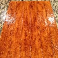 Wood Grain Cake Board this is a wood grain effect done on a fondant covered cake board