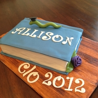Graduation Book Worm I made this cake for my baby sisters graduation. She loved the bookworm as she had a 4.0 grade average. So proud of her