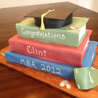 Graduation Books Book cake