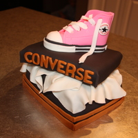 Pink Converse Shoe And Box Shoe made with MMF. Shoebox covered and accented with MMF. Wasn't happy with the shoebox itself, but I was happy with the shoe itself...