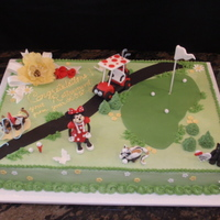 Minnie Mouse And Golf Retirement Cake
