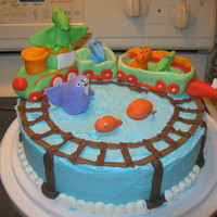 Dinosaur Train Under The Sea My daughter was very specific in her birthday cake order this year. She's turning 4. She wanted Dinosaur Train Under the Sea with the...