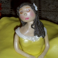 Ballerina Cake 9 inch Vanilla cake with lemon filling .Skirt is butter cream, doll and top of the skirt is modeling chocolate. Thanks yo CC for all the...