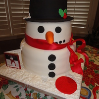 Frosty The Snowman!! Another snowman cake made for an end of year celebration!