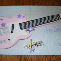Hannah Montana Guitar mrs_planeflyer was so gracious in allowing me to use her guitar cake for inspiration, I made a sheet cake and used a blown up picture of...