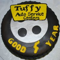 Tuffy's I made this tire cake for the guys at Tuffy who always change my oil and rotate my tires without complaining!