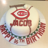 Before You Get Upset About Trademark Issues I Bought The Reds Emblem Cake Is A Chocolate Cake Torted With Whimsical Buttercream And A Ras  Before you get upset about trademark issues, I bought the reds emblem. Cake is a chocolate cake torted with whimsical buttercream and a...