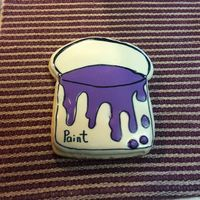 Paint Bucket Cookie For My Daughters Sherwin Williams Storetreat For Staff Paint bucket cookie for my daughters sherwin Williams store...treat for staff