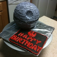 Death Star Birthday Cake A Death Star Birthday Cake for two graduates of the Space Camp Jedi Academy. They had no trouble demolishing it. WASC with strawberry...