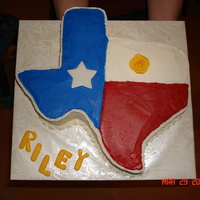 Texas Cake This was actually a going away baby shower cake. The yellow rose is where the couple met