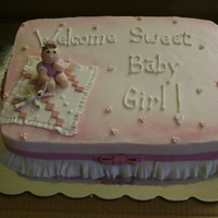 Baby Girl Shower BC with fondant decorations
